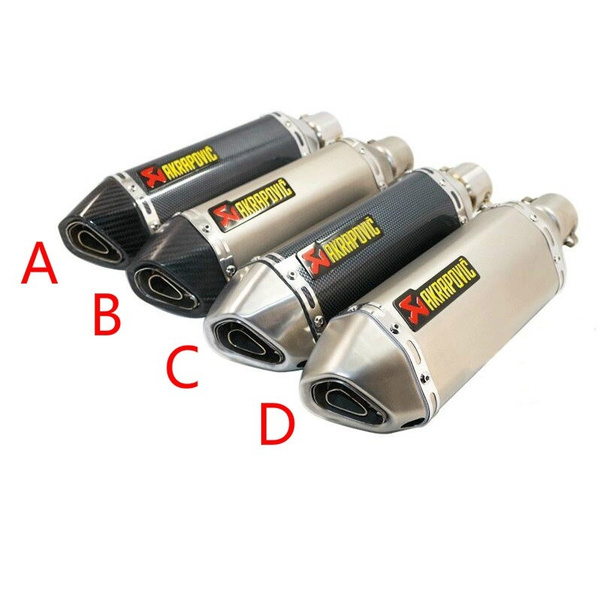 Universal Motorcycle ATV Exhaust Muffler Pipe Escape Pipes Slip on 35-51mm UK