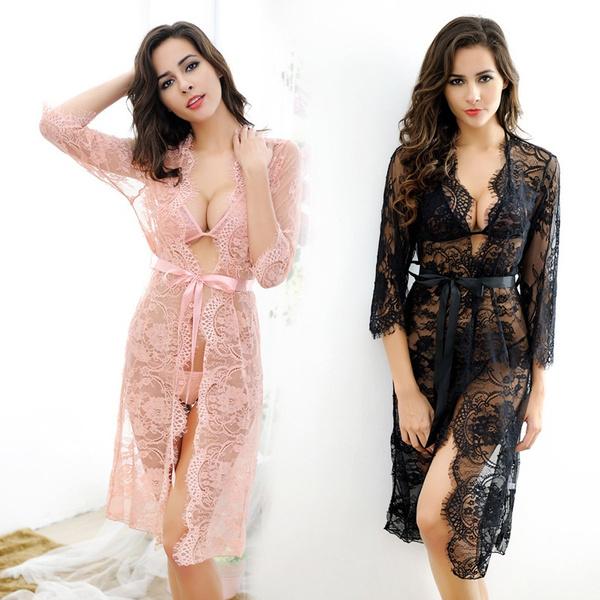 nightwear, Fashion, Lace, Nightgown