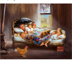 crossstitch, Family, DIAMOND, muralpainting