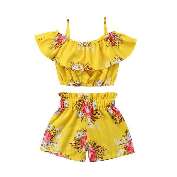 strappycroptop, Summer, Floral print, pants