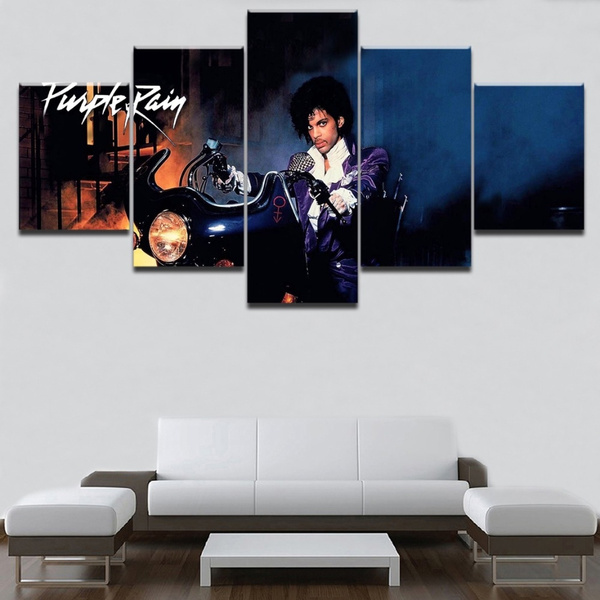 Prince Singer Legend Five Piece Framed Canvas Multi Panel Home Decor Wall