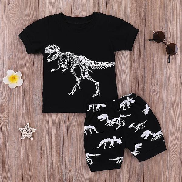 blouse, dinosaurshirt, Shorts, babysuit
