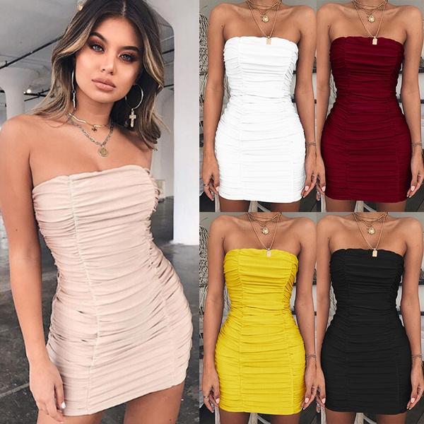 Summer, Strapless Dress, Fashion, halter dress