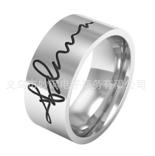 Couple Rings, Steel, Stainless, Women Ring