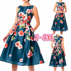 sexypleated, Floral print, plus size dress, Dress