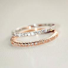 eternity, Cubic Zirconia, Jewelry, 925 silver rings