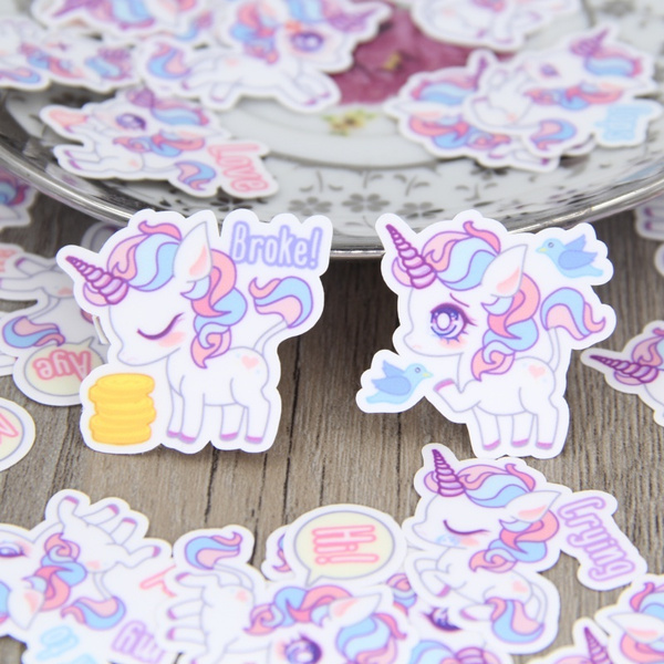 cute, Decor, Scrapbooking, unicornsticker