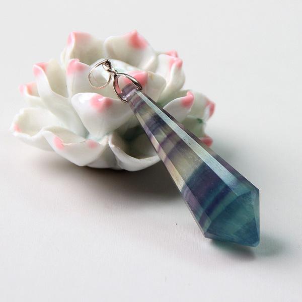 Ladies, Pendant, Gifts, naturalfluorite