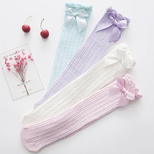 Cotton, Princess, Socks, Bow