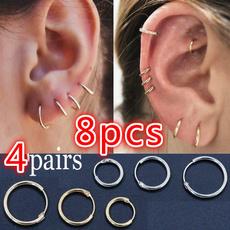 Hoop Earring, Jewelry, Gifts, Simple