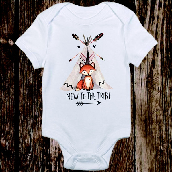 Baby Bodysuit New Baby Gift, Fox Bodysuit Baby Boy Bodysuit Baby Shower Gift Baby Boy Clothes Baby Gift Unique Baby Clothes