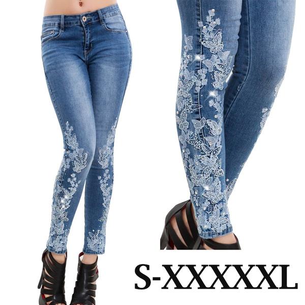 skinny pants, high waist, pants, Women jeans