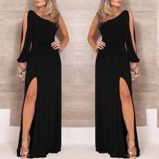 Fashion, one shoulder dress, long dress, Evening Dress