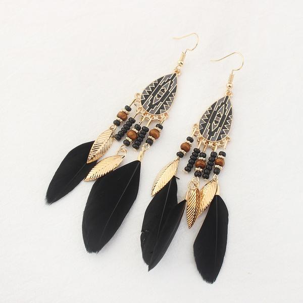 Tassels, Beads Earrings, Jewelry, Gold Earrings