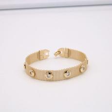 yellow gold, Crystal Bracelet, meshbracelet, Jewelry Accessory