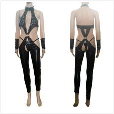 Open Crotch, Goth, bandagebodysuitbackles, fetishwear