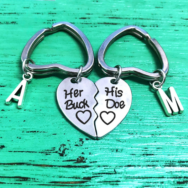 Heart, letter print, Key Chain, Gifts