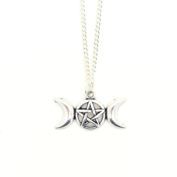 pentagrampendant, celestialnecklace, Jewelry, pentaclenecklace