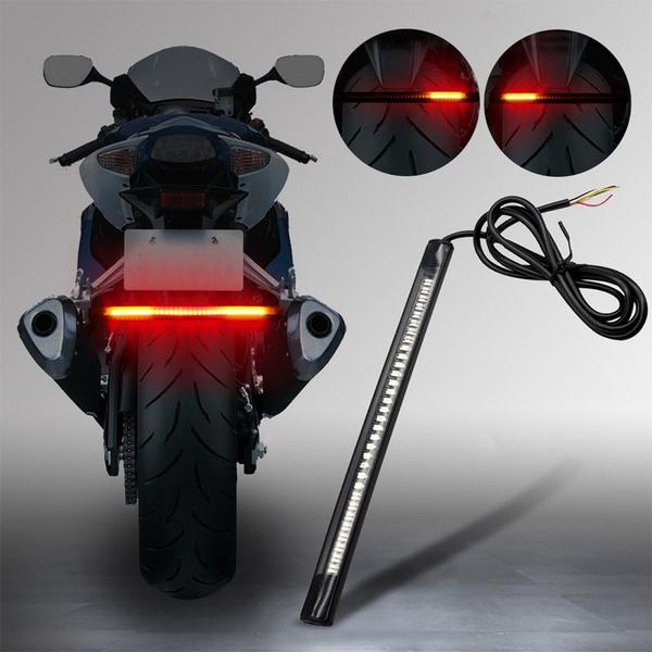 Flexible Motorcycle 48LED Light Strip Rear Tail Brake Stop Turn Signal Lamp