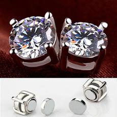 DIAMOND, Jewelry, Magnetic, magnetstudearring
