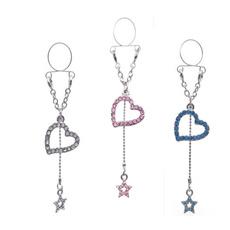 Steel, falsenippleshield, Star, Jewelry
