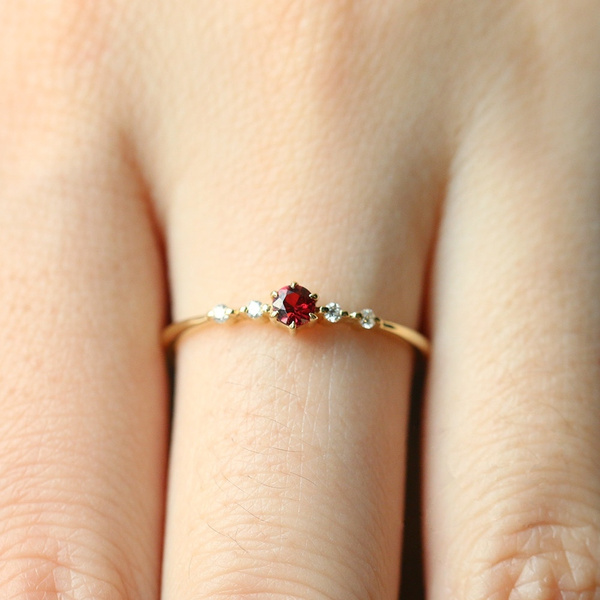 goldplated, rubinediamond, 18k gold, Jewelry