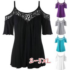 blouse, Summer, Plus Size, Slim T-shirt