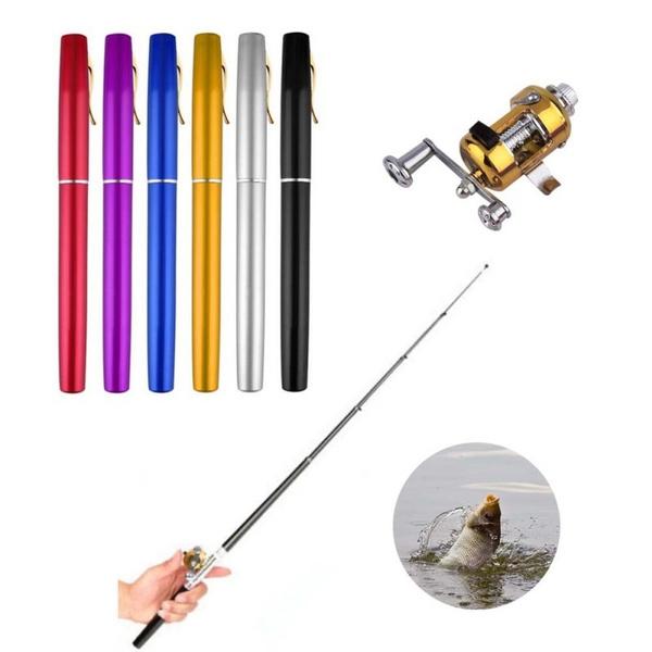 Mini, portablefishingrod, Aluminum, outdoorfishing