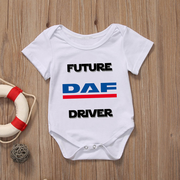 Rare New Future Scania Truck Driver Funny Baby Clothes Cute Unisex Bodysuit Onesie Short Sleeve Romper One Piece Prime Outfits with Sayings Pagliaccetto