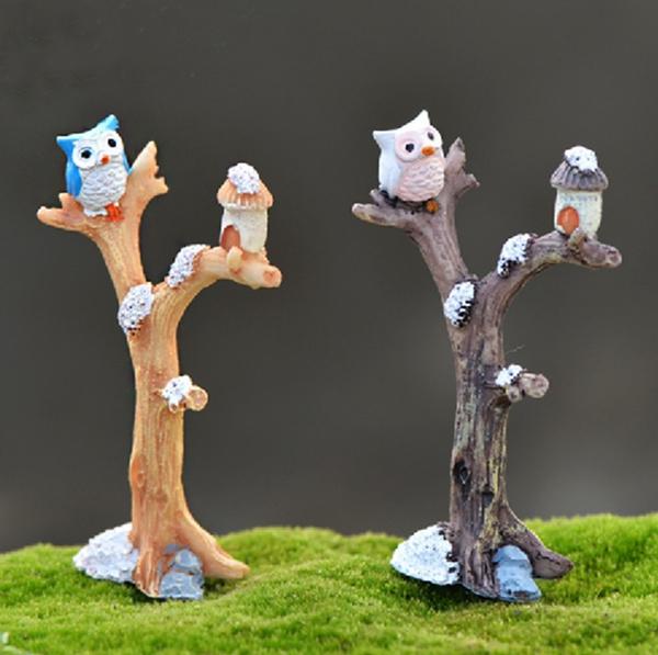 Bonsai, Owl, treefork, Garden
