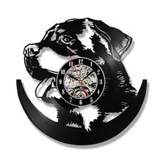 rottweiler, silhouette, Clock, Pets