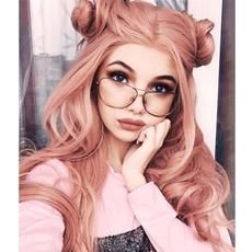 pink, wig, Fashion, curly wig