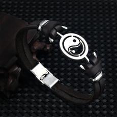 Steel, wristbandbracelet, stainlesssteelbracelet, genuineleatherbracelet