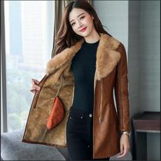 womencoatwinterwarm, Jacket, womensleatherjacketsandcoat, Plus Size