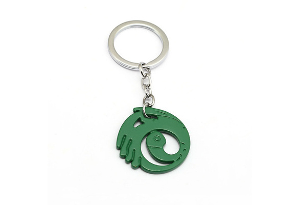 Tomb Raider Dark Nickel Plated Metal Key Ring//Chain
