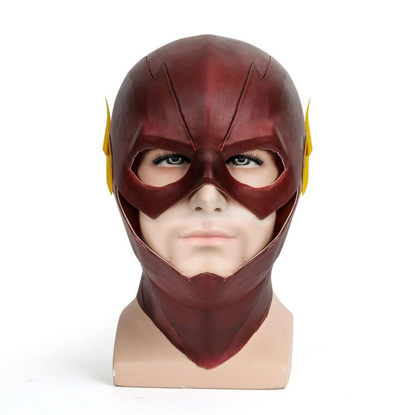 Justice League THE Flash Cosplay Mask Full Face Latex Mask Halloween Party Prop
