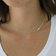 Sideways, sidewayscrossnecklace, Cross necklace, crossjewelry