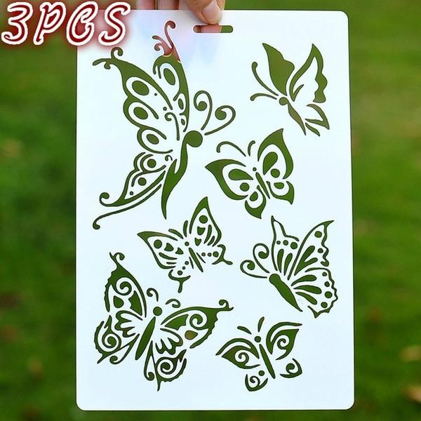 butterfly, scrapbookingdiy, stencil, walldecoration