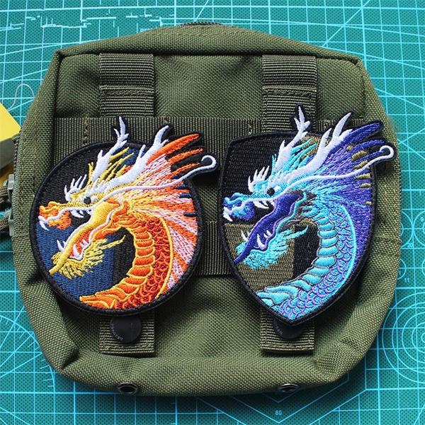 Decorative, badge, Sewing, dragon
