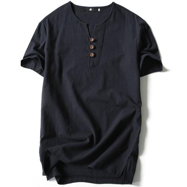 Summer, topsamptshirt, Cotton, Shirt