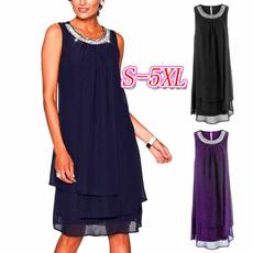 Summer, Plus Size, Necks, Swing dress