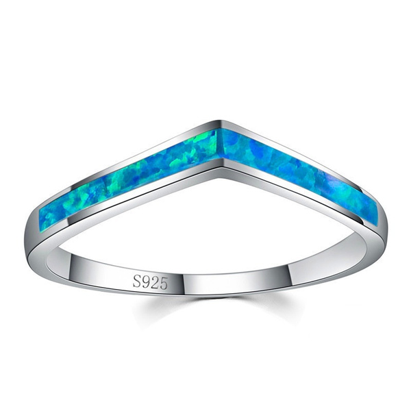 Sterling, Fashion, sterling silver, blueopalring