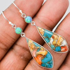 Sterling, Turquoise, opalearring, 925 sterling silver