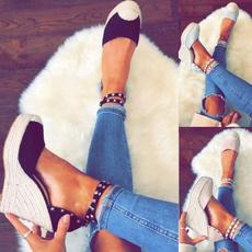 casual shoes, wedge, High Heel Shoe, Womens Shoes