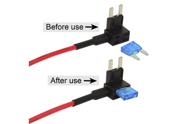 uxcell 16 Gauge AWG Add-A-Circuit Car Vehicle Blade Fuse Holder 2Pcs for Mini ATM//APM Fuse