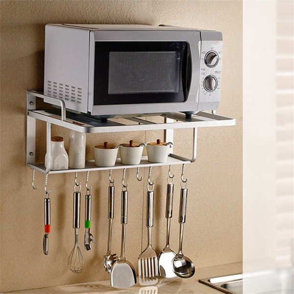Hanging Microwave Oven Stand Storage