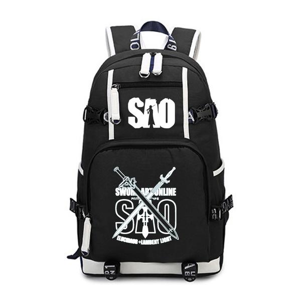 black backpack, Outdoor, Computer Bag, School