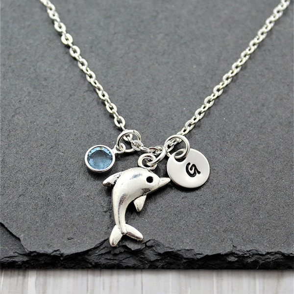 Personalized necklace, Jewelry, dolphinjewelry, dolphingift