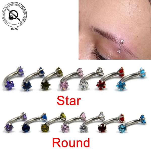 Steel, navel rings, zirconring, cartilage earrings