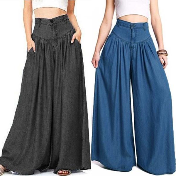 Women, denimlook, high waist, pantsforwomen